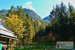 Goldener Herbst bei der Klaushofstube